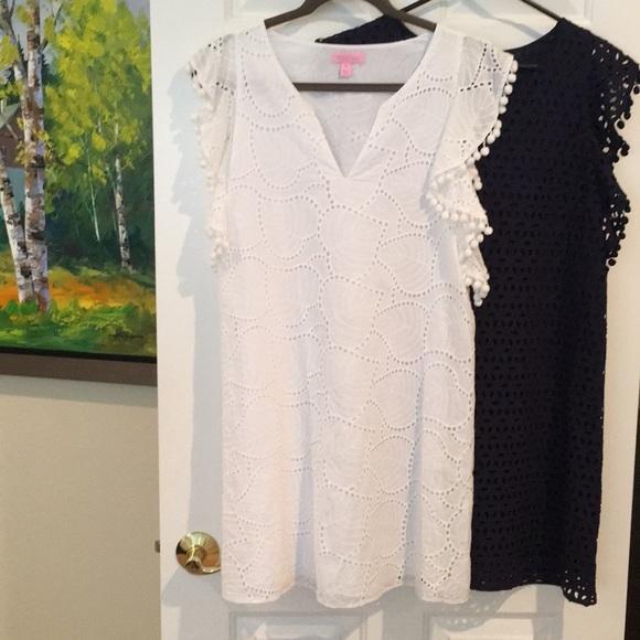 Lily Pulitzer White cotton lace dress